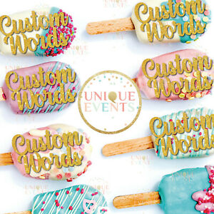 Custom cupcake toppers glitter cake topper personalised cupcake topper pack of 6