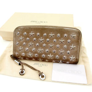 Jimmy Choo Wallet Purse Long Wallet Pink Woman Authentic Used Y1314