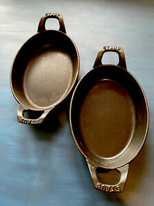 STAUB casserole dish set of two 21 cm