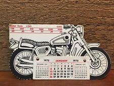 Vintage 1975 Suzuki Motorcycle #243 Diecut Calendar - New Old Stock Never Used