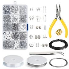 Jewelry Making Kit Repair Tool Set Pliers Supplies Findings Accessories 19 Piece