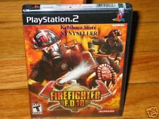 Fire Fighter Firefighter FD F.D.18 PS2 PS3 NEW Sealed