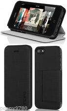 New Incipio LGND Shell Flip Folio + Stand Screen Protector Case iPhone 5 Black