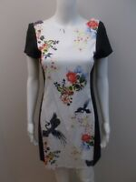 AS NEW- CUE FLORAL/BIRD PRINT DRESS SIZE 8  (#H1428)