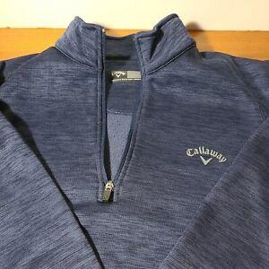 Men's Callaway 1/4 Zip Golf Pullover Jacket Men's Size Large Blue