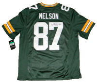 JORDY NELSON SIGNED AUTOGRAPHED GREEN BAY PACKERS #87 NIKE LIMITED JERSEY JSA