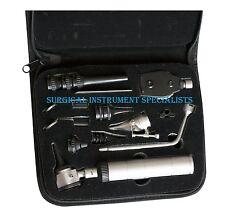 Veterinary Pet Otoscope Ophthalmoscope Nasal Larynx Vet Diagnostic Set 3V LED