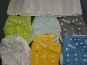 LBB Cloth Diapers 6 diapers with inserts