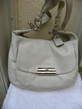 COACH LARGE KRISTIN 16787 OFF WHITE  LEATHER SHOULDER CROSSBODY BAG PURSE