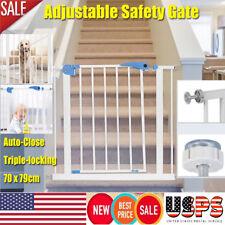Extra Tall Walk Thru Safety Gate Baby Indoor Security Dog Pet Door Gates Fence A