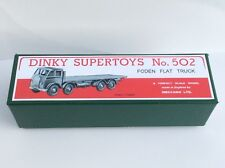 DINKY *Premier Quality* Repro Box 502 Foden Flat Truck (1st cab) 902