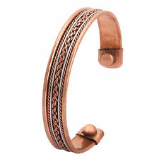 Mens Magnetic Therapy Bangle Bracelet Copper-Pewter New Rare Earth Magnets Bio