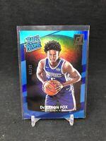 De'Aaron Fox 2017-18 NBA Donruss True RC Rated Rookie Blue /49 ERROR CARD J28