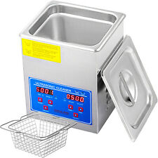2 L Industry Heated Ultrasonic Cleaners Cleaning Equipment Heater w/Timer CE