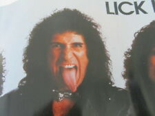 KISS POSTER - LICK IT UP - GENE'S TONGUE / 4 GUYS IN BAND