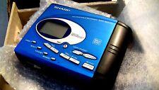 VINTAGE SHARP MD MINIDISC WALKMAN RECORDER model MD-SR70H, blue metallic color