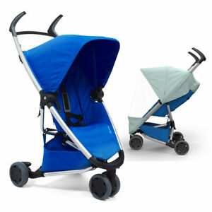 Brand New Quinny ZAPP Xpress Pushchair & Raincover in All Blue RRP£220