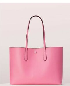 Kate Spade Molly Large Leather Tote & Pouch - Hibiscus Tea Pink NWT