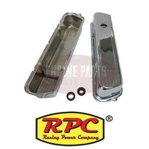 RPC Chrome Steel Valve Covers Suit Holden 253-304-308 - Pre EFI RPCR7001