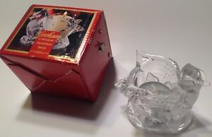 """Gorham Cardinal Votive Candle Holder Lead Crystal 3"""" Holiday Traditions Germany"""