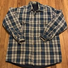 Vintage Thermal Lined Flannel Jacket Button Down Size XL