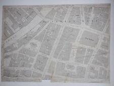 Old Antique Ordnance Map 1891 Lancashire CIV.6.24 Manchester City Street ...
