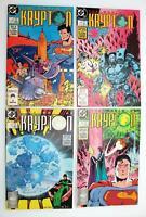 The World of Krypton Lot of (4) DC Comics; Superman