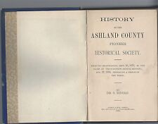 History of the ashland county pioneer historical society 1875-1885 brethren 1888