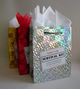 Daddy To Be SURVIVAL KIT Funny Baby Shower Gift Idea Novelty Present For New Dad