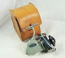 Old Vintage SPIN MITEY Ultra Lite Spinning Reel + Leather Case