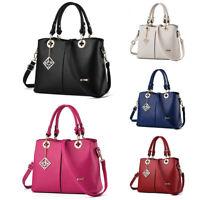 Womens Leather Handbag Shoulder Messenger Lady Satchel Tote Crossbody Bags