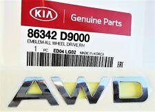 GENUINE KIA SPORTAGE (2016+) 'AWD' FRONT RIGHT WING EMBLEM 86342D9000
