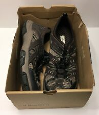 G H Bass Size 13 Surfside Water Shoes Brown Green Leather Fabric Lace Up