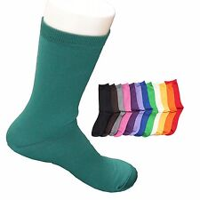 Girl's Women's Fashion Socks Cotton Solid Color 7-9 Blue Green, Casual, Sephar