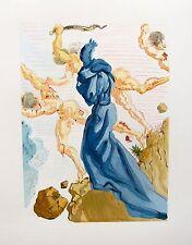 Salvador Dali 1960 DIVINE COMEDY INFERNO #15 Color Woodcut Wood Block Engraving