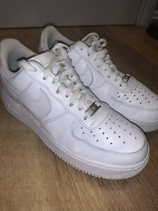 Size UK 8 - Nike Air Force 1 '07 White Trainers