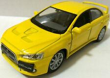 "1:36 Scale 2008 Mitsubishi Lancer Evo Evolution X diecast CAR model 5"" YELLOW"