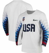 5f726dcd1ea 2018 Officially Licensed Winter Olympic Nike Mens USA Hockey Royal Jersey  Sz L