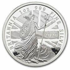 2020 Great Britain £2 Britannia Proof 1 oz 9999 Silver Coin - 4660 Made - OGP