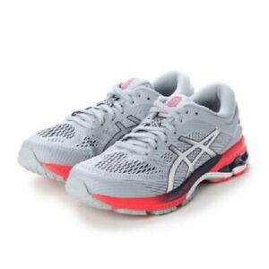 ASICS WOMENS Running Shoes GEL-KAYANO 26 1012A459 Piedmont Grey/Silver