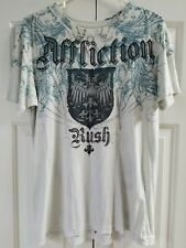 "Affliction Georges ""Rush"" St. Pierre Graphic T-Shirt Medium"