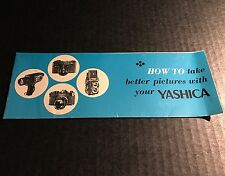 How To Take Better Pictures With Your Yashica - Vintage Camera Manual Guide