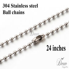 10 x ball chain chains 304 stainless steel necklace 60cm ready to wear jewelry