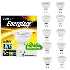 10x Energizer GU10 3.6 Watt LED Spotlight 250 Lumens. Equivalent- 35W (Clear/WW)