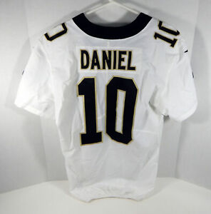2017 New Orleans Saints Chase Daniel #10 Game Issued White Jersey 0100