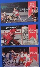 BILL GADSBY X 3 signed 1994 Parkhurst Tall Boy cards DETROIT RED WINGS