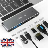  7in1 USB C Hub Type-C HDMI Thunderbolt 3 port Reader Adapter For MacBook Pro 