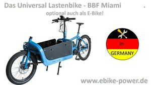Universal Lastenrad Transportrad, optional auch als E-Lastenbike E-Bike >35km/h