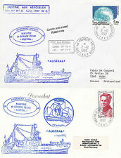 FRANCE POLAR CRUISE SHIP AUSTRAL 2 SHIPS CACHED COVERS POLAR CANCELS