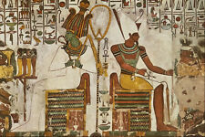 503018 Osiris And Atum Seated With Offerings A4 Photo Print